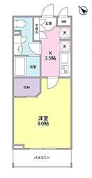ZX minamiーOtsuka 4階1Kの間取り
