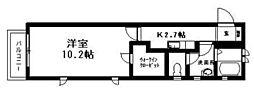 神奈川県横浜市青葉区荏田北3丁目の賃貸アパートの間取り