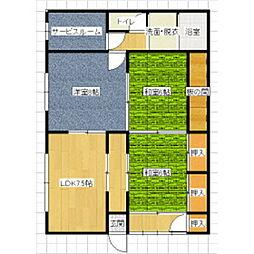 城戸アパート[101号室]の間取り