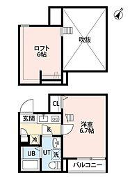 COSMOSII(コスモスツー)[1階]の間取り
