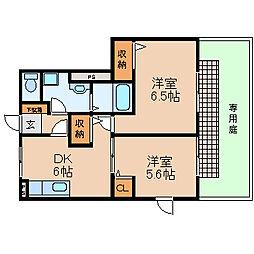 滋賀県高島市新旭町熊野本2丁目の賃貸アパートの間取り
