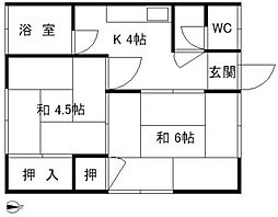 川添アパート[203号室]の間取り