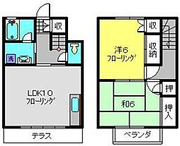 [テラスハウス] 神奈川県横浜市旭区市沢町 の賃貸【/】の間取り