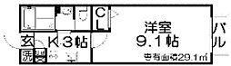 香里パーシーハイツ[1階]の間取り
