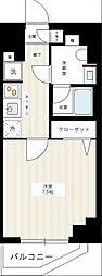京成本線 千住大橋駅 徒歩3分の賃貸マンション 2階1Kの間取り