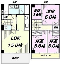 [テラスハウス] 東京都八王子市片倉町 の賃貸【/】の間取り