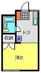 ラフォーレモトヤマ[101号室]の間取り