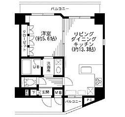 KDXレジデンス日本橋箱崎[12階]の間取り