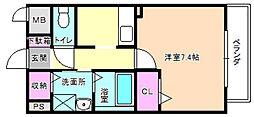 大阪府枚方市藤阪東町2丁目の賃貸アパートの間取り