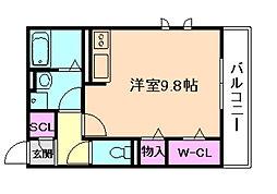 大阪府豊中市中桜塚2丁目の賃貸アパートの間取り