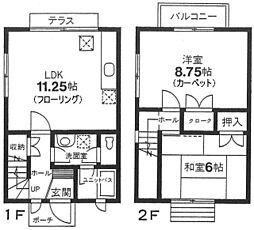 [テラスハウス] 神奈川県川崎市中原区小杉陣屋町1丁目 の賃貸【/】の間取り