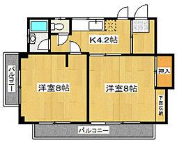 カクタビル[4階]の間取り