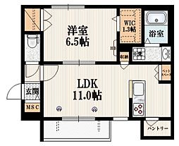 Courtyard武蔵野公園West 1階1LDKの間取り