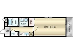 フジパレス豊新6番館[1階]の間取り