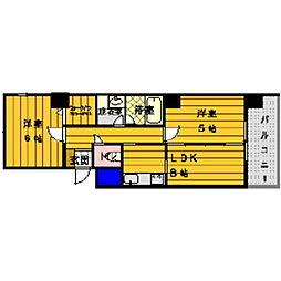 エコノ桜坂8[1002号室]の間取り