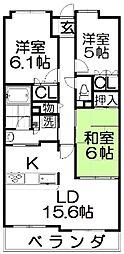 グランコープ枚方・香里ヶ丘[5階]の間取り