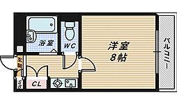 フォンティーヌ堺[5階]の間取り