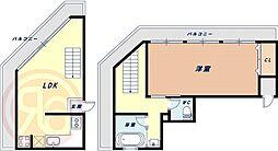 JR関西本線 JR難波駅 徒歩3分の賃貸マンション 9階1LDKの間取り