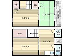 [テラスハウス] 大阪府吹田市南高浜町 の賃貸【/】の間取り
