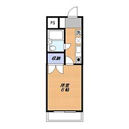 FUJIKYU6[106号室]の間取り