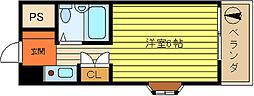 第52新井ビル[701号室]の間取り
