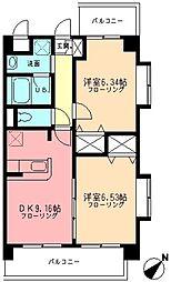 バレル鷺沼[1階]の間取り