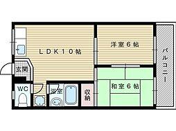 サンビオラ上新庄[8階]の間取り