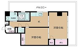 サンライト朝田[4階]の間取り