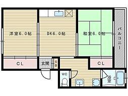 コーポサニー[4階]の間取り