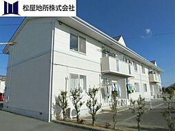 愛知県田原市加治町欠田の賃貸アパートの外観
