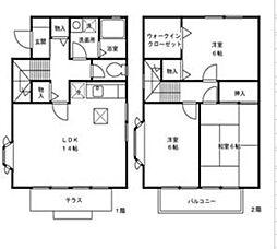 [テラスハウス] 神奈川県厚木市妻田西3丁目 の賃貸【/】の間取り