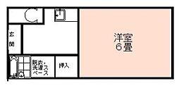 江口アパート[201号室]の間取り