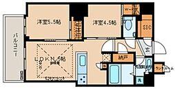 文京ガーデン ザ サウス 15階2LDKの間取り