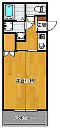 サンガーデン東光[401号室]の間取り