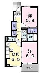神奈川県川崎市宮前区神木本町3丁目の賃貸アパートの間取り