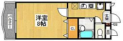 福岡県福岡市博多区竹丘町2丁目の賃貸マンションの間取り