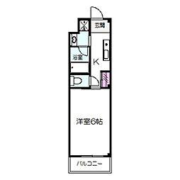 (仮称)メビウス三宝町マンション 1階1Kの間取り