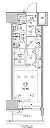 都営三田線 板橋本町駅 徒歩4分の賃貸マンション 10階1Kの間取り