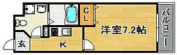 Osaka Metro今里筋線 瑞光四丁目駅 徒歩2分の賃貸マンション 1階1Kの間取り