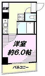JR中央線 八王子駅 徒歩9分の賃貸マンション 5階1Kの間取り