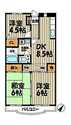 フローラ山ノ井A[103号室]の間取り