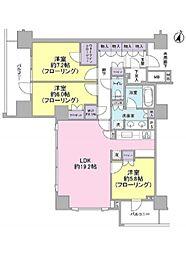 ブランズ渋谷常盤松[5階]の間取り
