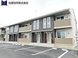 愛知県豊橋市下五井町沖田の賃貸アパートの外観