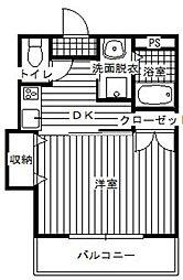 サンハウス羽犬塚[301号室]の間取り