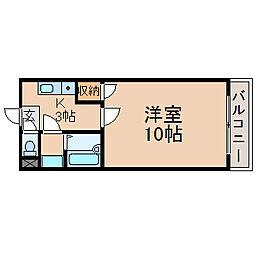 滋賀県長浜市新庄寺町の賃貸アパートの間取り