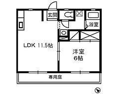 ASDコーポ 7[1階]の間取り