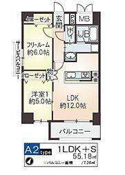 メゾントーワ[8階]の間取り