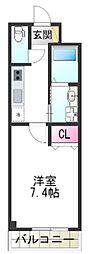 (仮称)堺市堺区向陵中町3丁 新築賃貸マンション 3階1Kの間取り