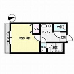 福岡県福岡市博多区竹下2丁目の賃貸マンションの間取り