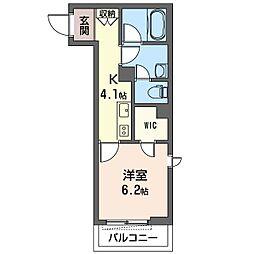 仮)大田区南馬込1丁目シャーメゾン 2階1Kの間取り
